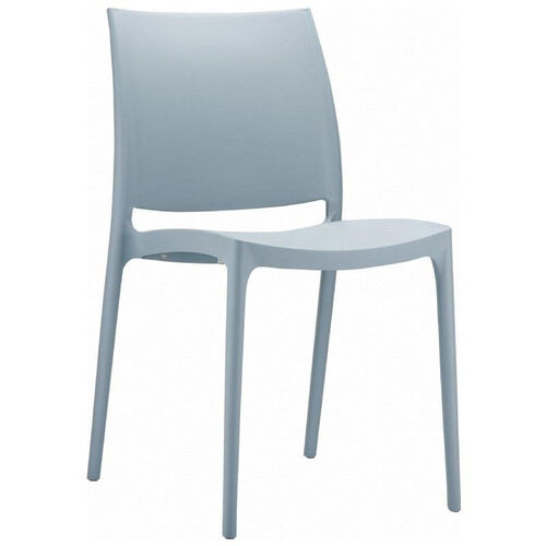 Our Maya Outdoor Polypropylene Stackable Dining Chair - Silver is on sale now.
