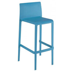 Pedrali Stackable Poly Shell Outdoor Barstool - Blue