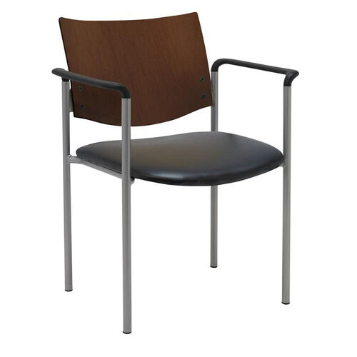Our 1300 Series Stacking Guest Armchair with Chocolate Wood Back - Vinyl Seat is on sale now.