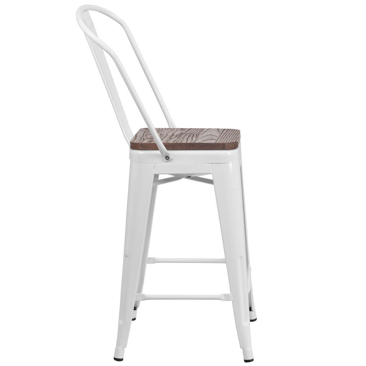 24 White Metal Counter Stool Ch 31320 24gb Wh Wd Gg