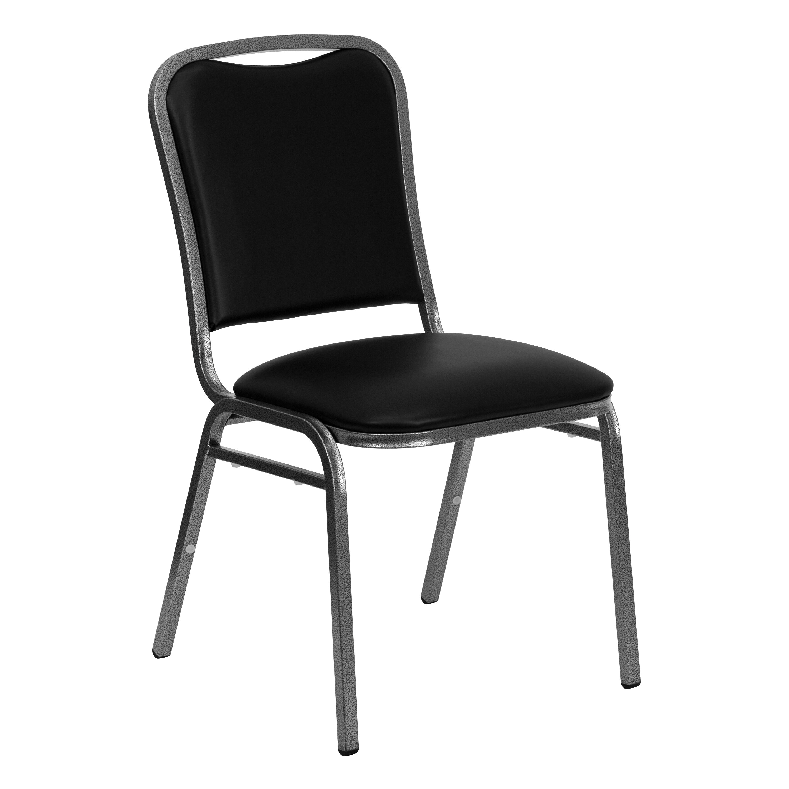 Flash Furniture HERCULES Series Stacking Banquet Chair In Black Vinyl    Silver Vein Frame NG 108 SV BK VYL GG | StackChairs4Less.com