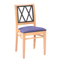 608 Stacking Chair w/ Upholstered Seat - Grade 2