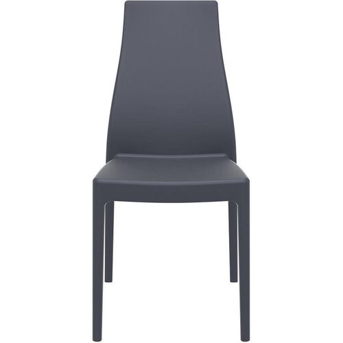 Our Miranda Outdoor Resin Stackable High Back Dining Chair - Dark Gray is on sale now.