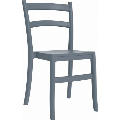 Our Tiffany Outdoor Resin Cafe Style Stackable Dining Chair - Dark Gray is on sale now.