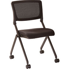Work Smart Mesh Nesting Chair with Black Frame - Set of 2 - Black Icon