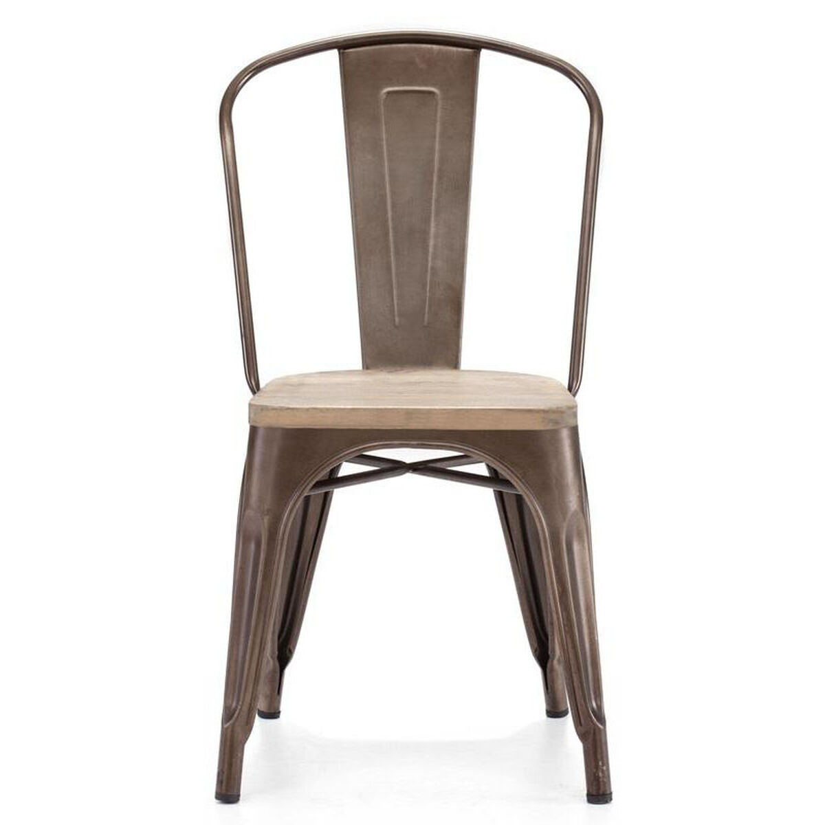 dreux stackable rustic matte steel side chair with light elm wood seat set of 4 inset 2. Black Bedroom Furniture Sets. Home Design Ideas