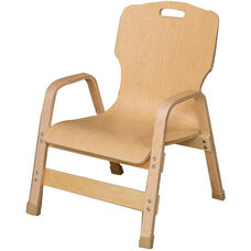 Stacking Bentwood Plywood Teachers Chair with Arms - 20.25
