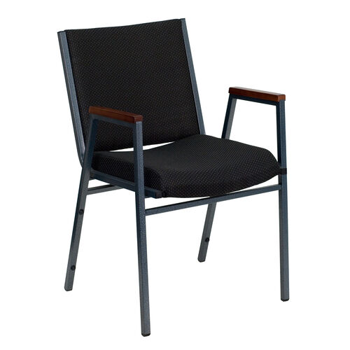 Our HERCULES Series Heavy Duty Black Dot Fabric Stack Chair with Arms is on sale now.