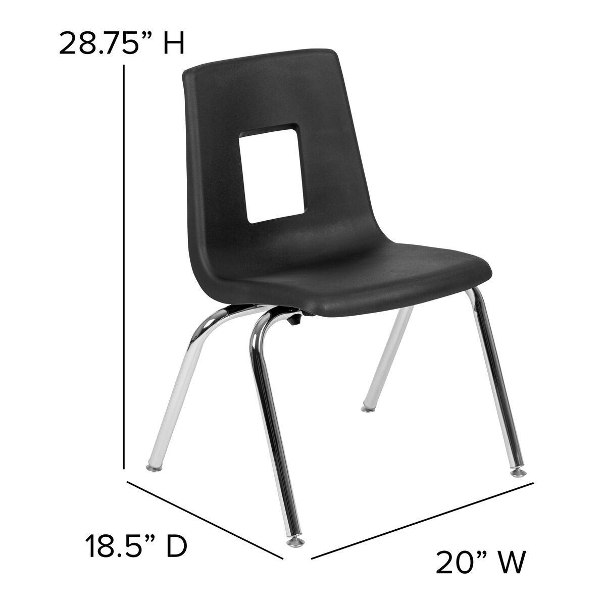 Astonishing Advantage Black Student Stack School Chair 16 Inch Caraccident5 Cool Chair Designs And Ideas Caraccident5Info