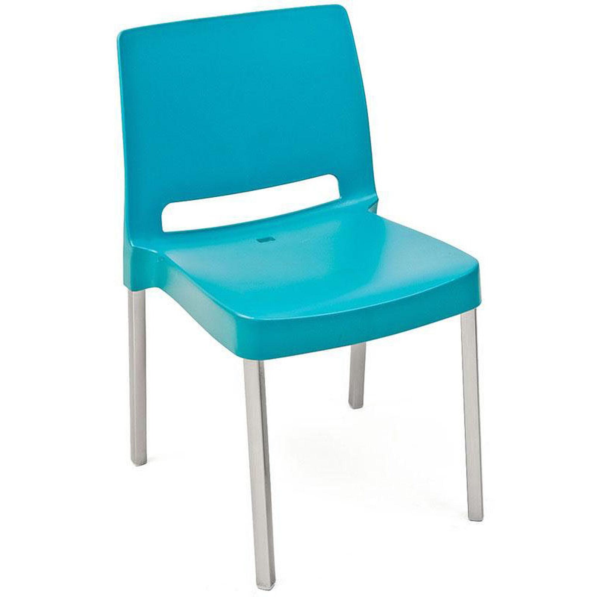 Peachy Pedrali Stackable Poly Shell Outdoor Chair In Aqua Inzonedesignstudio Interior Chair Design Inzonedesignstudiocom