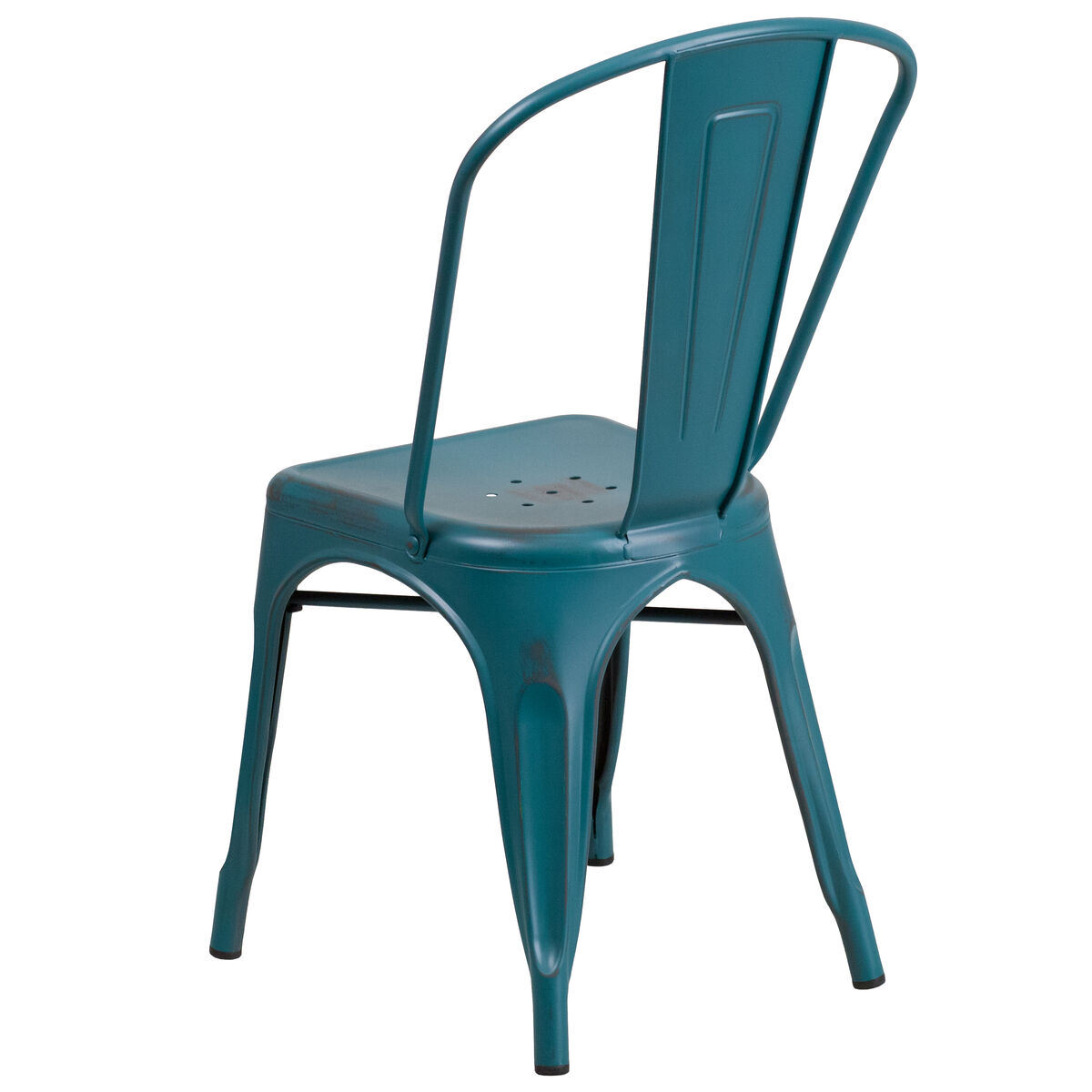 outdoor metal chair. Images. Distressed Kelly Blue-Teal Metal Indoor-Outdoor Stackable Chair Outdoor I