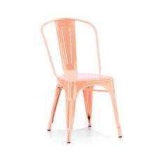 Dreux Light Rose Gold Stackable Steel Side Chair - Set of 4