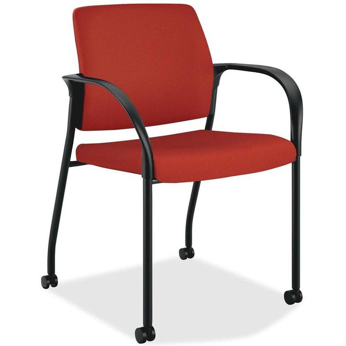 Product PL-680-SP video; Our The HON Company Mobile Stacking Multipurpose  Armchair with Casters - Poppy is on sale now