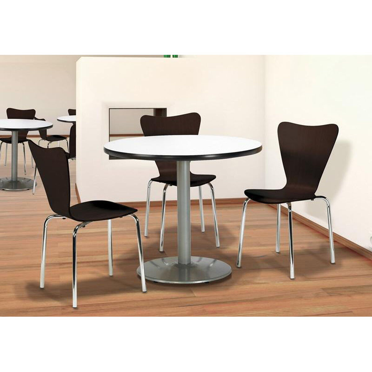 3800 series bentwood stacking armless cafe chair with chrome frame inset 1. Black Bedroom Furniture Sets. Home Design Ideas