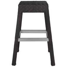 Miami Duraweave Stackable Backless Bar Stool - Espresso