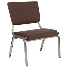 HERCULES Series 1500 lb. Rated Brown Antimicrobial Fabric Bariatric Medical Reception Chair with 3/4 Panel Back