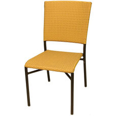 Aruba II Hand Polished Heavy Weight Aluminum Stackable Side Chair