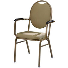 Omega I Premium Comfort Stacking Arm Chair with Oval Back