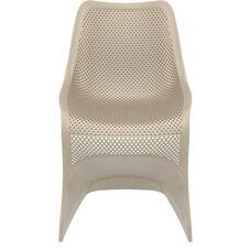 Bloom Contemporary Polypropylene Dining Chair - Dove Gray
