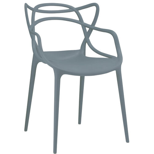 Our Masters Polypropylene Slate Modern Stackable Arm Chair - Set of 4 is on sale now.