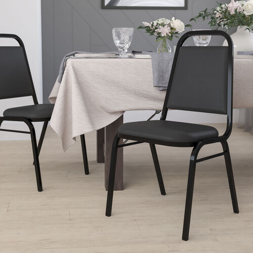 """HERCULES Series Trapezoidal Back Stacking Banquet Chair with 1.5"""" Thick Seat"""