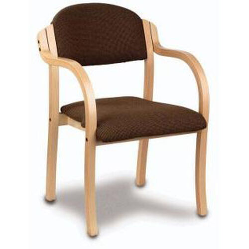 Our Supremacy Euro Style Laminated Hardwood Stack Chair with Arms - Open Back is on sale now.