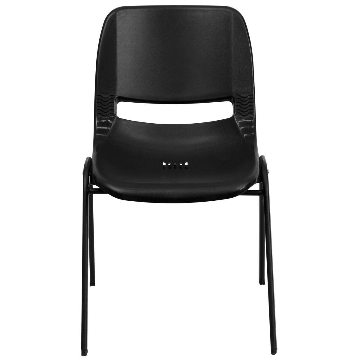 Our Hercules Series 880 Lb Capacity Black Ergonomic Shell Stack Chair Is On Now