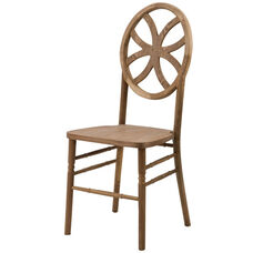 Veronique Series Stackable Clover Wood Dining Chair - Tinted Raw