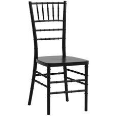 1000 lb. MAX Black Resin Steel Core Chiavari Chair