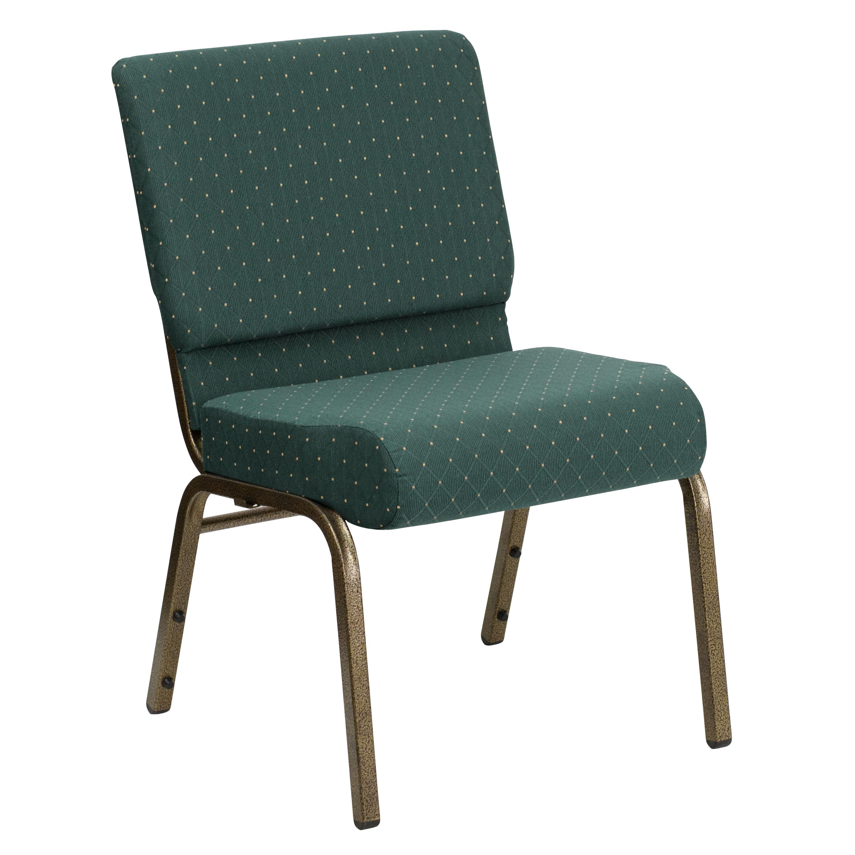 Green Dot Fabric Church Chair Fd Ch0221 4 Gv S0808 Gg