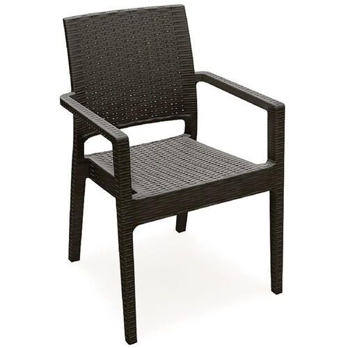 Our Ibiza Outdoor Wickerlook Resin Stackable Dining Arm Chair - Brown is on sale now.