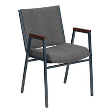 HERCULES Series Heavy Duty Gray Fabric Stack Chair with Arms