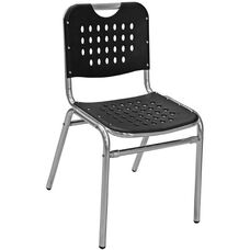 Palm Beach Collection Stackable Outdoor Side Chair - Black