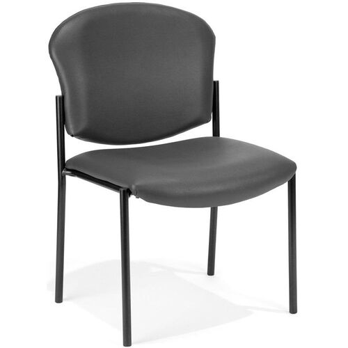 Our Manor Anti-Bacterial and Anti-Microbial Vinyl Guest and Reception Chair - Charcoal is on sale now.