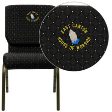 Black Fabric with Gold Vein Metal finish
