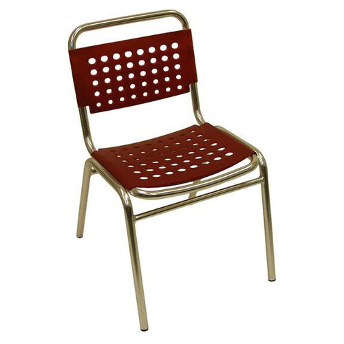Our South Beach Hand Polished Tubular Aluminum Stackable Side Chair - Red is on sale now.