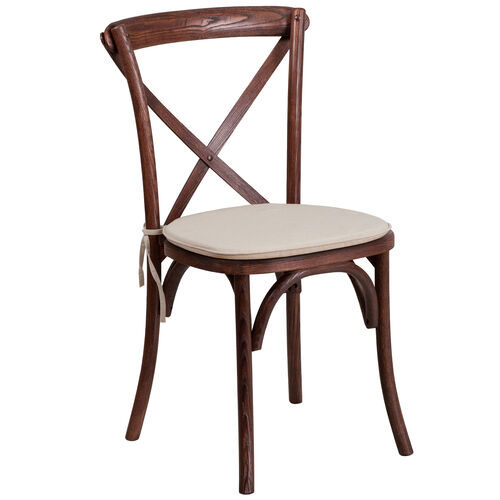 Our HERCULES Series Stackable Wood Cross Back Chair with Cushion is on sale now.