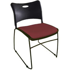 Quick Ship Stax Stacking Chair with Upholstered Seat