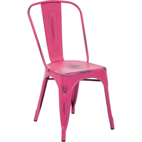 Our OSP Designs Bristow Stackable Armless Metal Chair - Set of 4 - Antique Pink is on sale now.