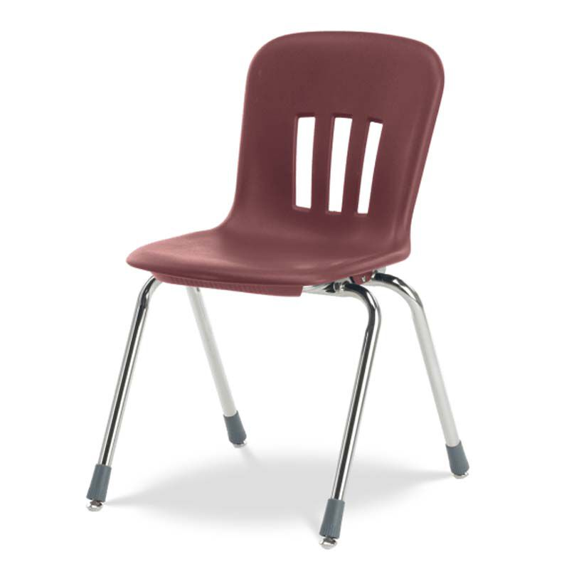 Virco Metaphor Series Stack Chair With 18u0027u0027H Polypropylene Seat And Chrome  Frame   Wine   19.63u0027u0027W X 22.25u0027u0027D X 31.13u0027u0027H N918 RED50 CHRM |  StackChairs4Less. ...