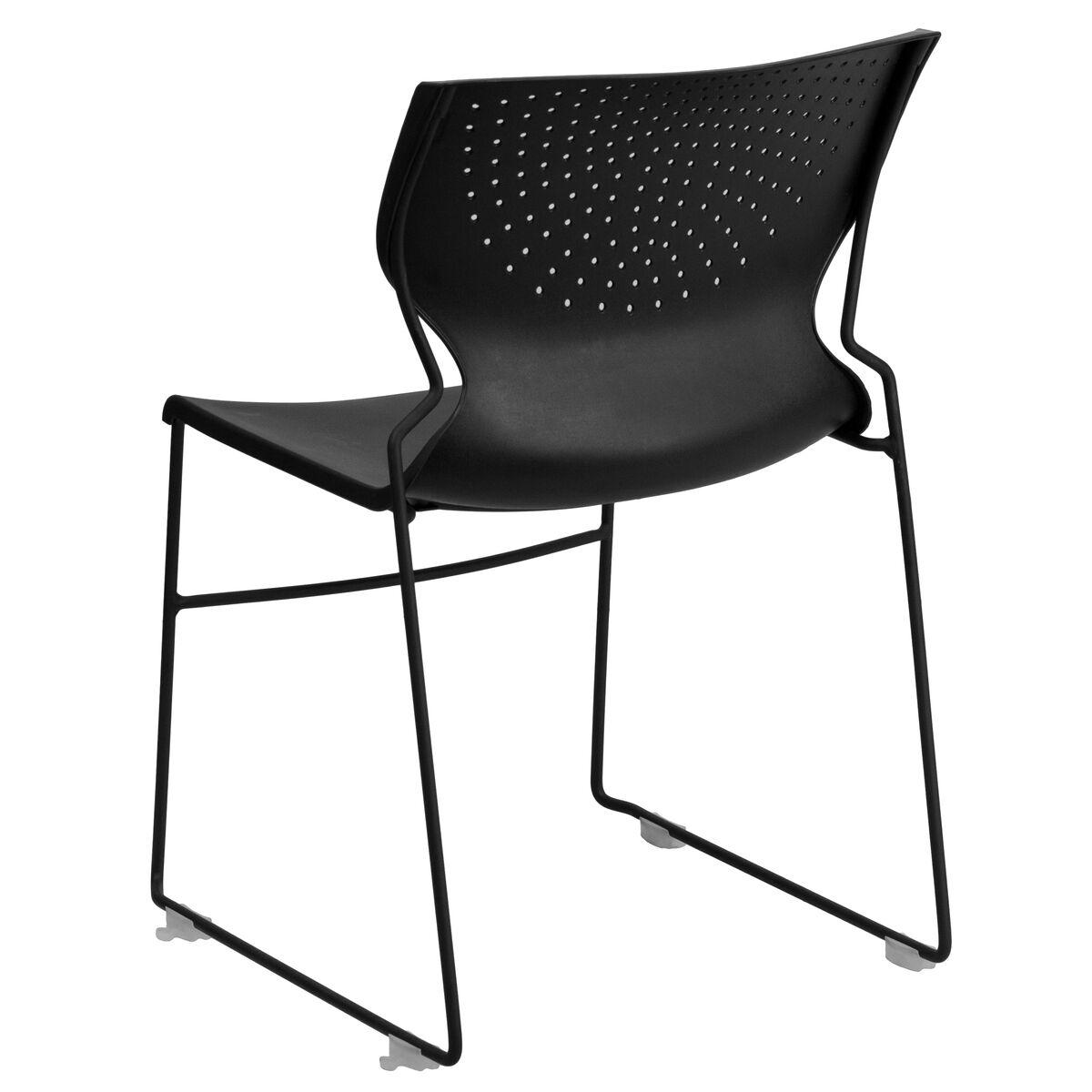 black plastic stack chair rut 438 bk gg. Black Bedroom Furniture Sets. Home Design Ideas