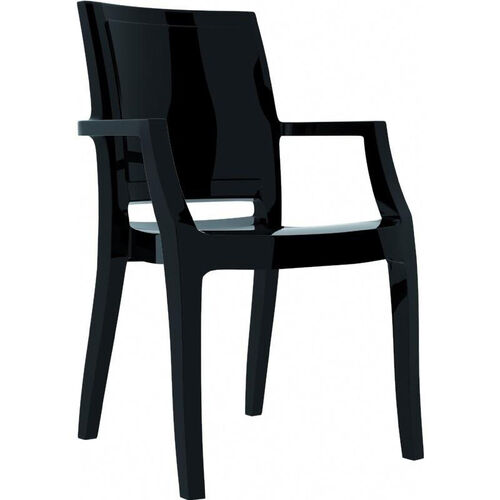 Arthur Polycarbonate Modern Stackable Dining Arm Chair