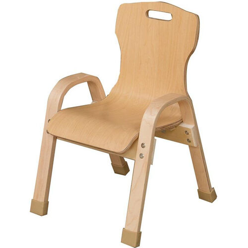 Our Stacking Bentwood Plywood Kids Chair with Arms - 13.88