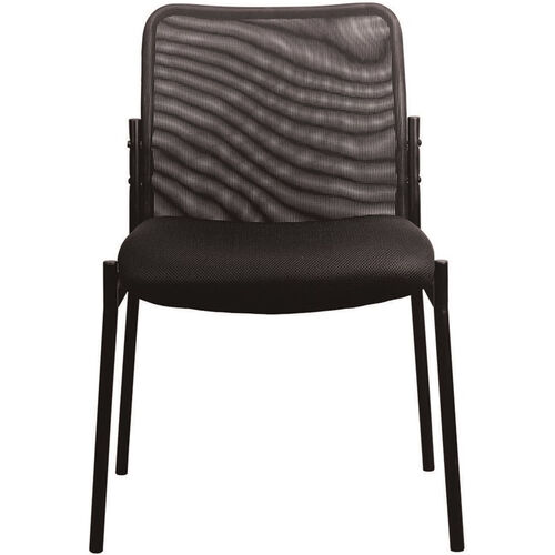 Our Essentials Mesh Upholstered Stacking Armless Side Chair - Black is on sale now.