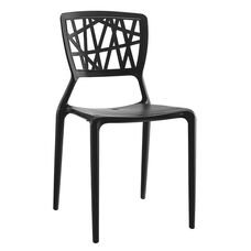 Vocci Black Modern Stackable Side Chair - Set of 4