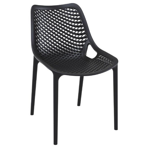 Our Air Modern Resin Outdoor Dining Chair - Black is on sale now.