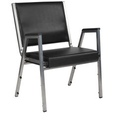 HERCULES Series 1500 lb. Rated Black Antimicrobial Vinyl Bariatric Antimicrobial Medical Reception Arm Chair