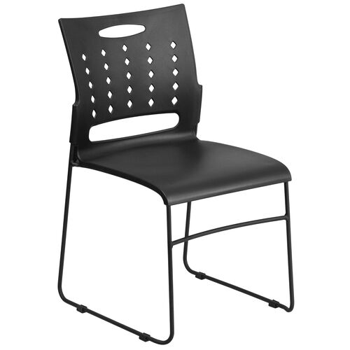 Our HERCULES Series 881 lb. Capacity Black Sled Base Stack Chair with Air-Vent Back is on sale now.