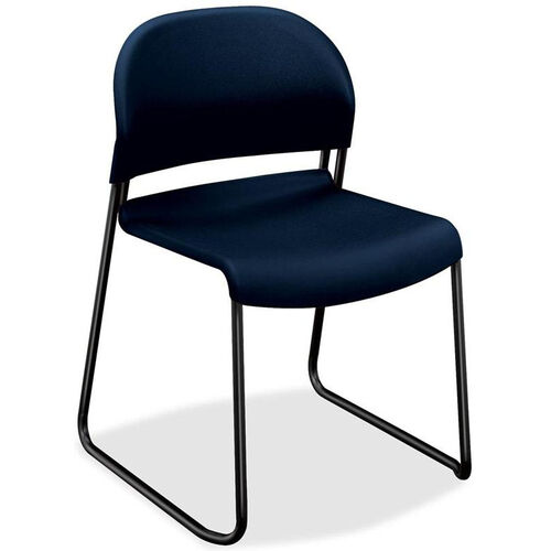 Our The HON Company Sled Base Armless Stacking Chair with Regatta Polymer Back and Seat - Set of 4 is on sale now.