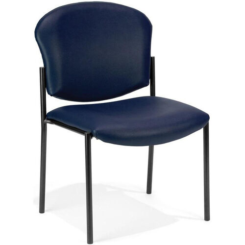 Our Manor Anti-Bacterial and Anti-Microbial Vinyl Guest and Reception Chair - Navy is on sale now.